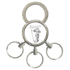 Domestically Disabled 3-Ring Key Chain