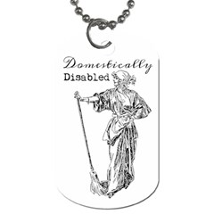 Domestically Disabled Dog Tag (One Sided)