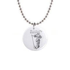 Domestically Disabled Button Necklace