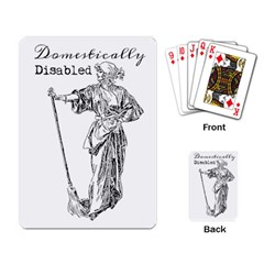 Domestically Disabled Playing Cards Single Design