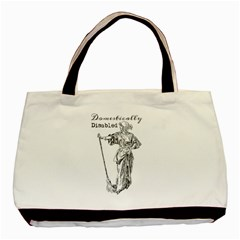 Domestically Disabled Twin-sided Black Tote Bag