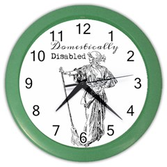 Domestically Disabled Wall Clock (Color)