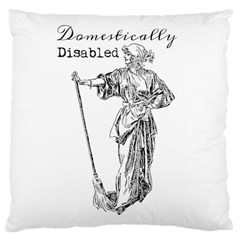 Domestically Disabled Large Cushion Case (Single Sided)