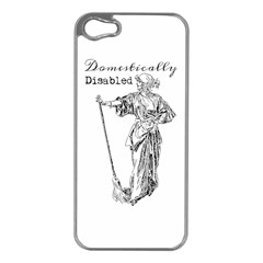Domestically Disabled Apple Iphone 5 Case (silver)