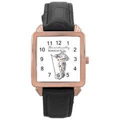 Domestically Disabled Rose Gold Leather Watch