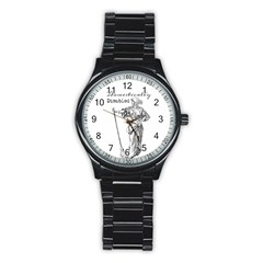 Domestically Disabled Sport Metal Watch (Black)