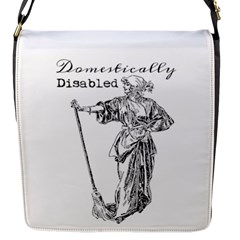 Domestically Disabled Flap Closure Messenger Bag (Small)