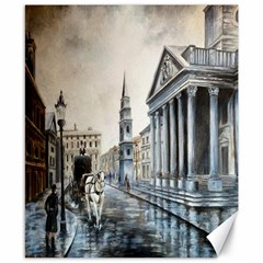 Old London Town Canvas 8  x 10  (Unframed)
