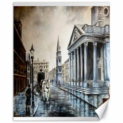 Old London Town Canvas 11  x 14  (Unframed)
