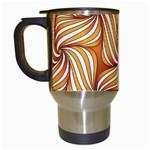 Sunny Organic Pinwheel Travel Mug (White) Left