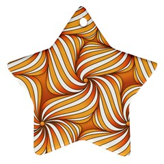 Sunny Organic Pinwheel Star Ornament (Two Sides)