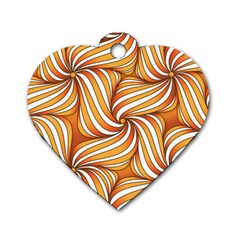 Sunny Organic Pinwheel Dog Tag Heart (One Sided)