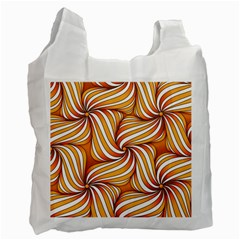 Sunny Organic Pinwheel White Reusable Bag (one Side)