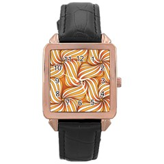 Sunny Organic Pinwheel Rose Gold Leather Watch