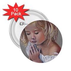 Prayinggirl 2 25  Button (10 Pack)