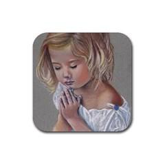 Prayinggirl Drink Coaster (Square)