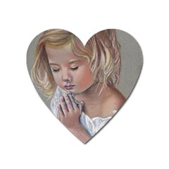 Prayinggirl Magnet (heart)