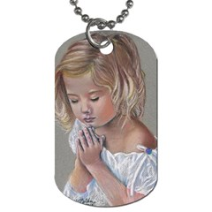 Prayinggirl Dog Tag (One Sided)