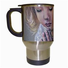 Prayinggirl Travel Mug (White)