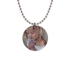 Prayinggirl Button Necklace