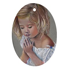 Prayinggirl Oval Ornament (Two Sides)