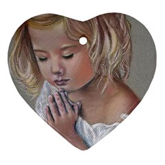 Prayinggirl Heart Ornament (Two Sides)