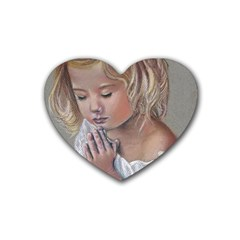 Prayinggirl Drink Coasters (Heart)