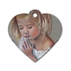 Prayinggirl Dog Tag Heart (One Sided)