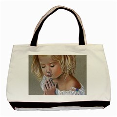 Prayinggirl Twin-sided Black Tote Bag