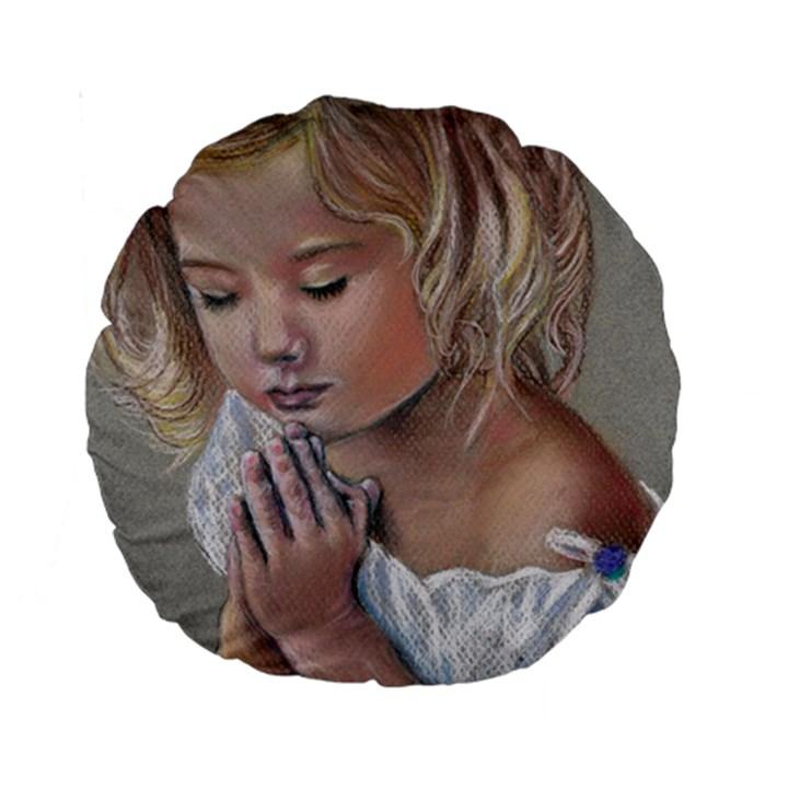Prayinggirl 15  Premium Round Cushion