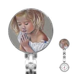 Prayinggirl Stainless Steel Nurses Watch