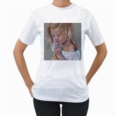 Prayinggirl Women s T-Shirt (White)