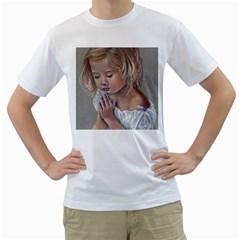 Prayinggirl Men s T Shirt (white)