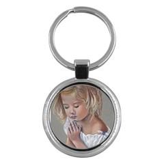 Prayinggirl Key Chain (Round)