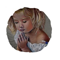 Prayinggirl 15  Premium Round Cushion