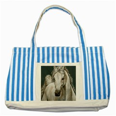 Breeze Blue Striped Tote Bag