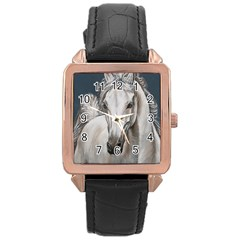 Breeze Rose Gold Leather Watch