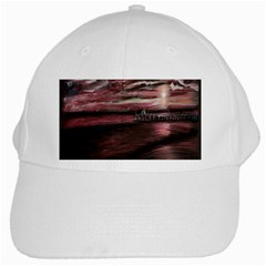 Pier At Midnight White Baseball Cap