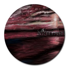 Pier At Midnight 8  Mouse Pad (round)