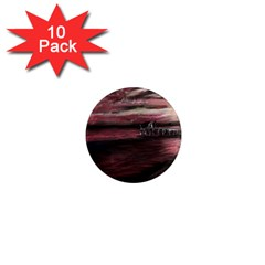 Pier At Midnight 1  Mini Button Magnet (10 pack)