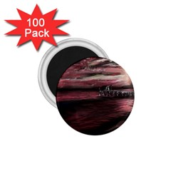 Pier At Midnight 1.75  Button Magnet (100 pack)