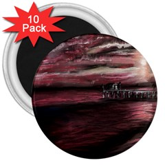 Pier At Midnight 3  Button Magnet (10 Pack)