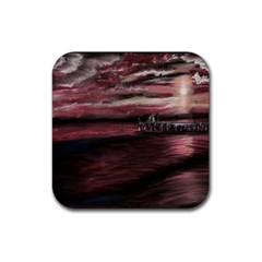 Pier At Midnight Drink Coasters 4 Pack (square)