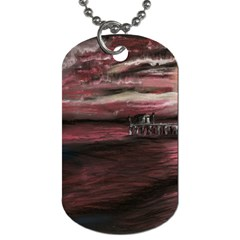 Pier At Midnight Dog Tag (one Sided)