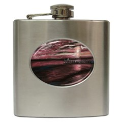 Pier At Midnight Hip Flask