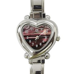 Pier At Midnight Heart Italian Charm Watch
