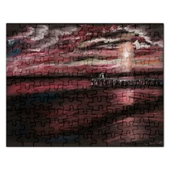 Pier At Midnight Jigsaw Puzzle (Rectangle)