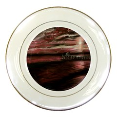 Pier At Midnight Porcelain Display Plate