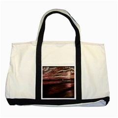 Pier At Midnight Two Toned Tote Bag