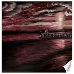 Pier At Midnight Canvas 12  x 12  (Unframed)
